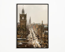 Load image into Gallery viewer, Edinburgh Princes Street, Scotland Photography, Travel art, Edinburgh Skyline, Calton Hill Edinburgh, Edinburgh Print