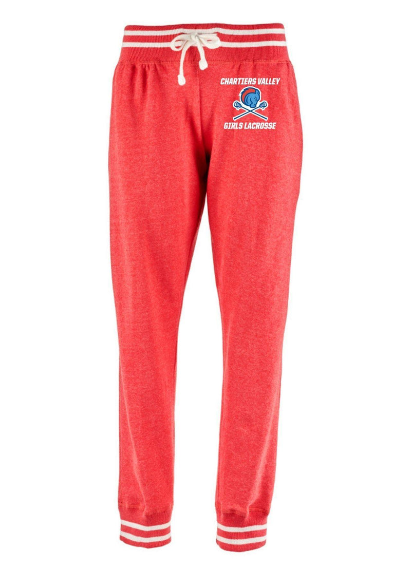 Chartiers Valley Girls J. America - Women's Relay Joggers - Red - Top String Lacrosse