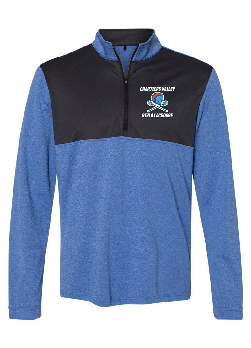 Chartiers Valley Girls Adidas - Lightweight Quarter-Zip Pullover - Royal - Top String Lacrosse