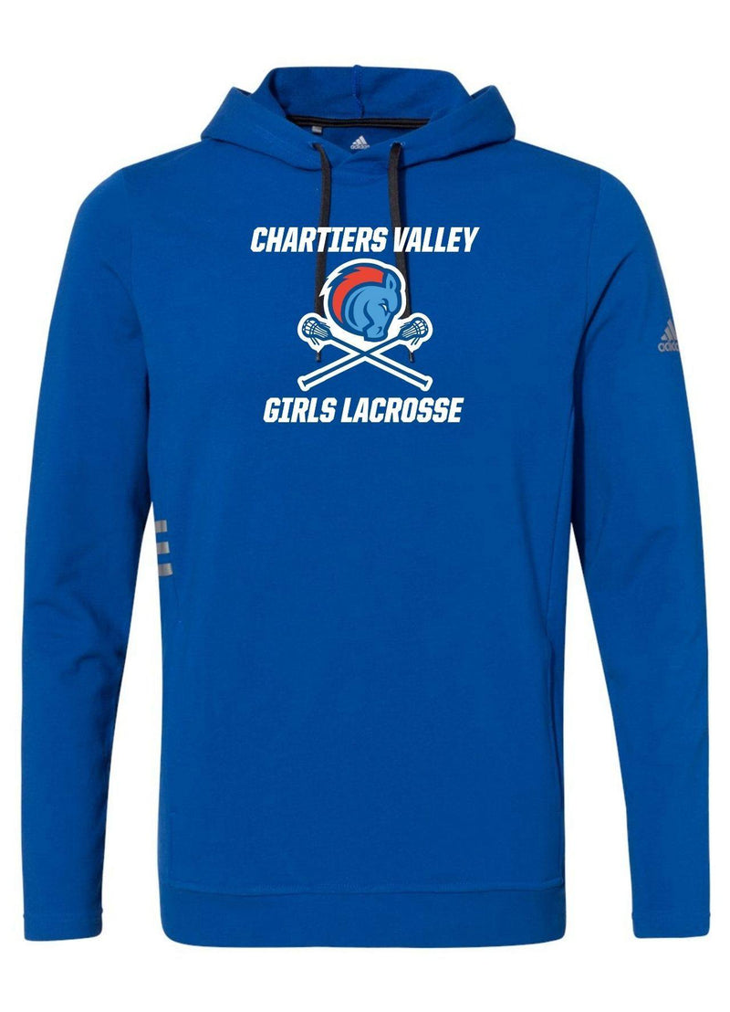 Chartiers Valley Girls Adidas - Lightweight Hooded Sweatshirt - Royal - Top String Lacrosse