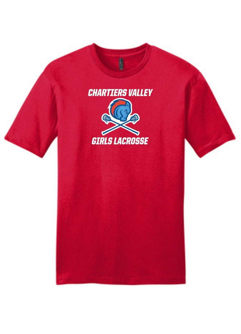 Chartiers Valley Girls District ® Very Important Tee ® - Red - Top String Lacrosse