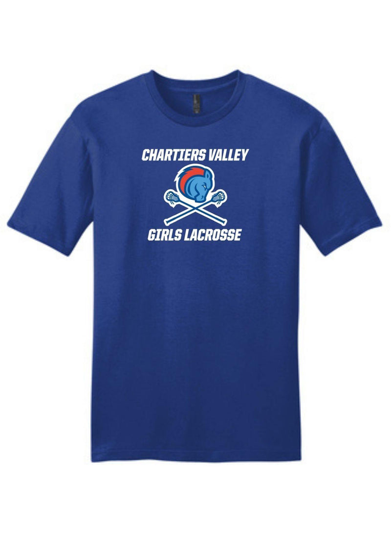 Chartiers Valley Girls District ® Very Important Tee ® - Royal - Top String Lacrosse