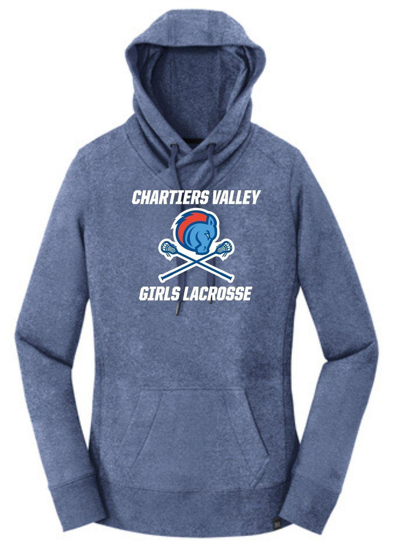 Chartiers Valley Girls New Era® Ladies French Terry Pullover Hoodie - Royal - Top String Lacrosse