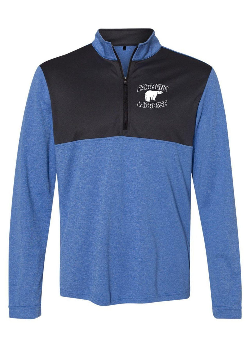 Fairmont Adidas - Lightweight Quarter-Zip Pullover - Royal - Top String Lacrosse