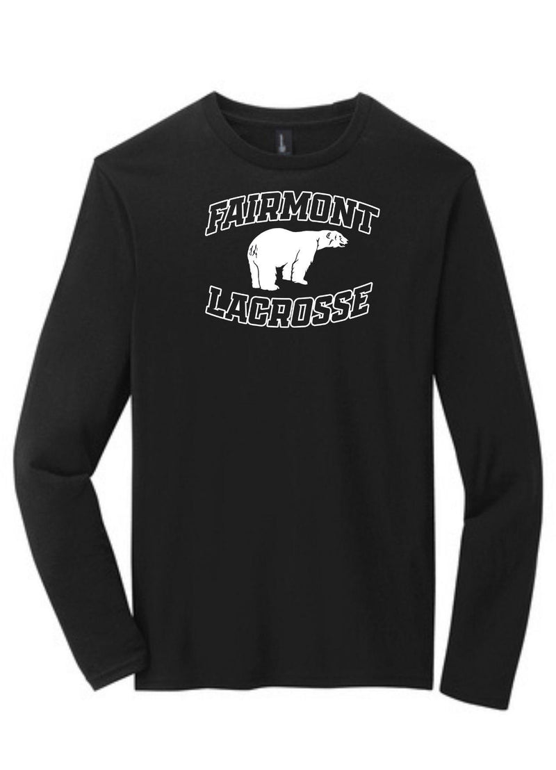 Fairmont District ® Very Important Tee ® Long Sleeve - Black - Top String Lacrosse