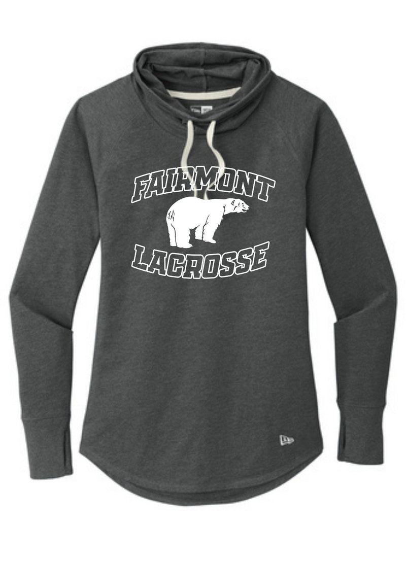 Fairmont New Era ® Ladies Sueded Cotton Blend Cowl Tee - Black - Top String Lacrosse