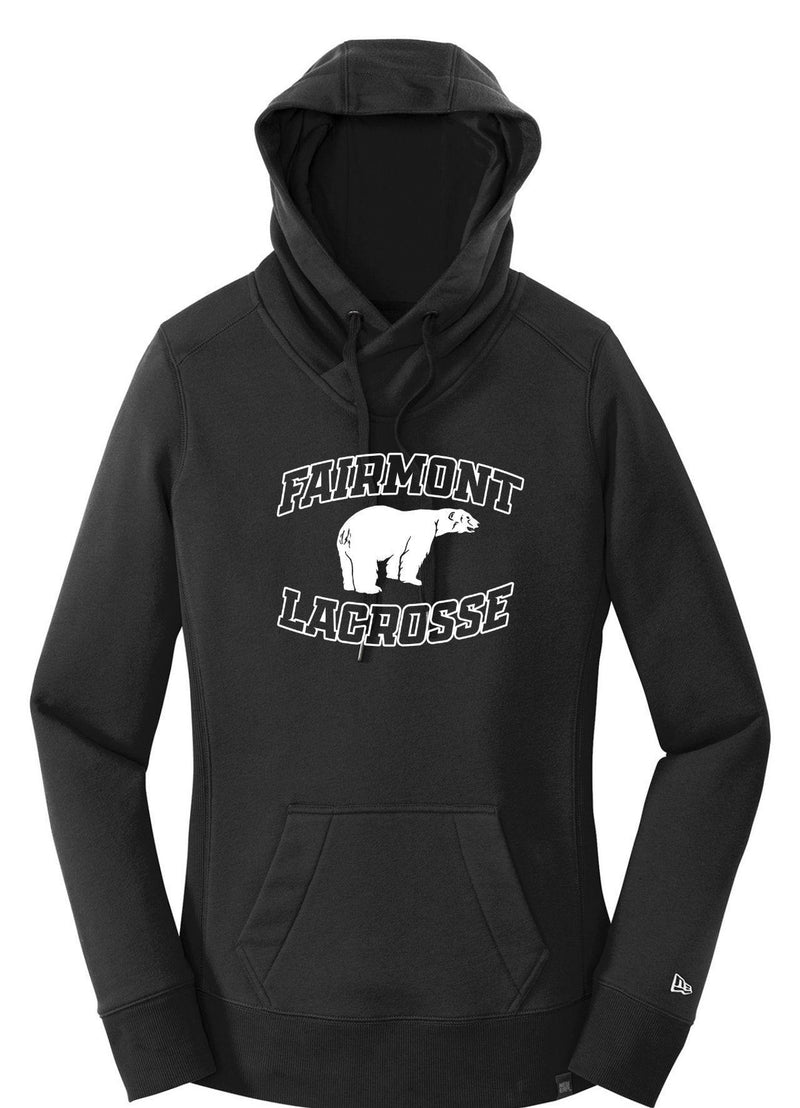 Fairmont New Era® Ladies French Terry Pullover Hoodie - Black - Top String Lacrosse