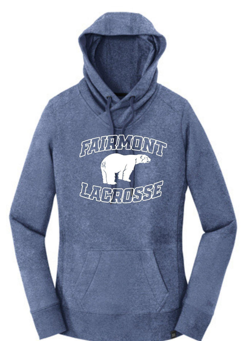 Fairmont New Era® Ladies French Terry Pullover Hoodie - Royal - Top String Lacrosse