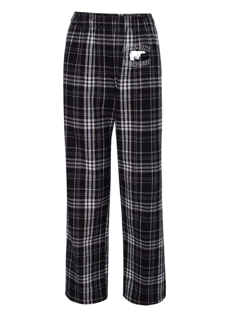Fairmont Boxercraft - Youth Flannel Pants with Pockets - Black/White - Top String Lacrosse