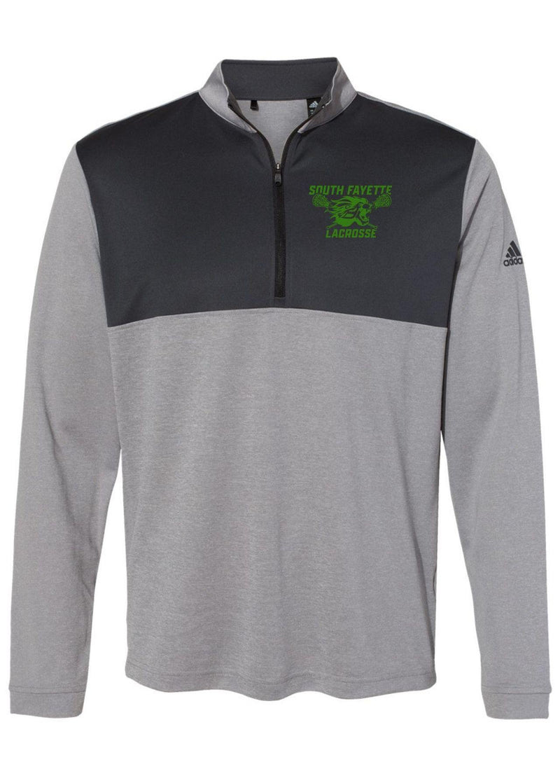 SF Adidas - Lightweight Quarter-Zip Pullover - Grey - Top String Lacrosse
