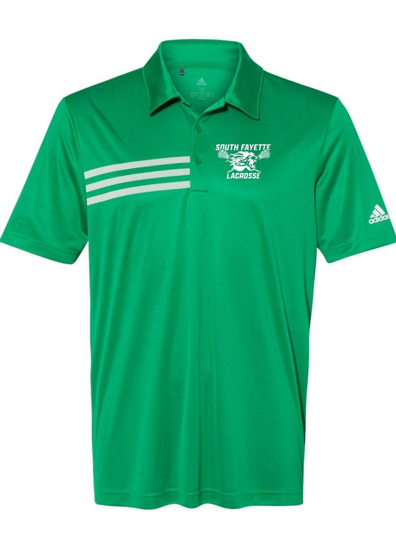 SF Adidas - 3-Stripes Chest Sport Shirt - Kelly - Top String Lacrosse