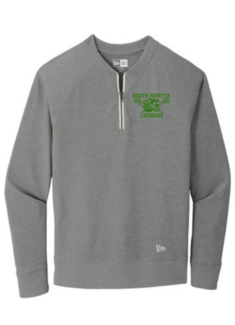 SF New Era ® Sueded Cotton Blend 1/4-Zip Pullover - Grey - Top String Lacrosse
