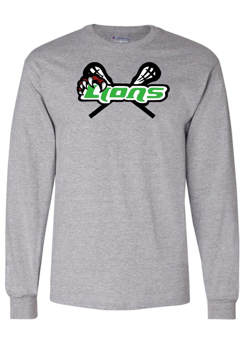 SFYTH Champion - Long Sleeve T-Shirt - Grey - Top String Lacrosse