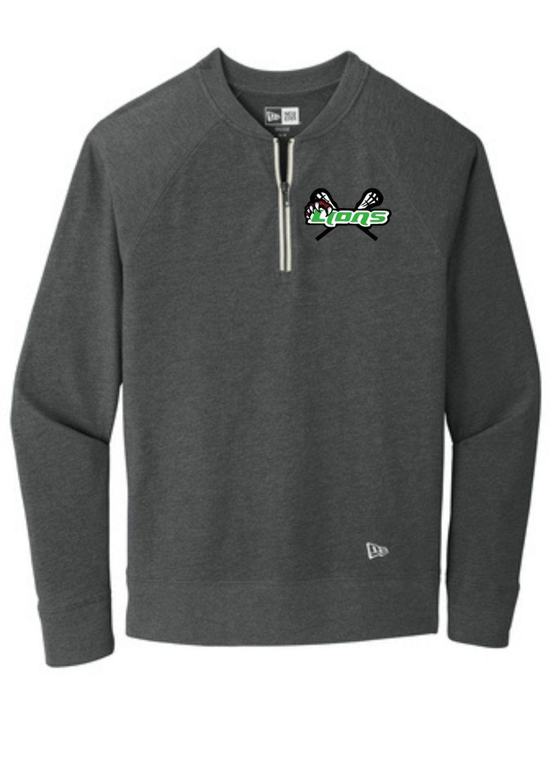 SFYTH New Era ® Sueded Cotton Blend 1/4-Zip Pullover - Black - Top String Lacrosse