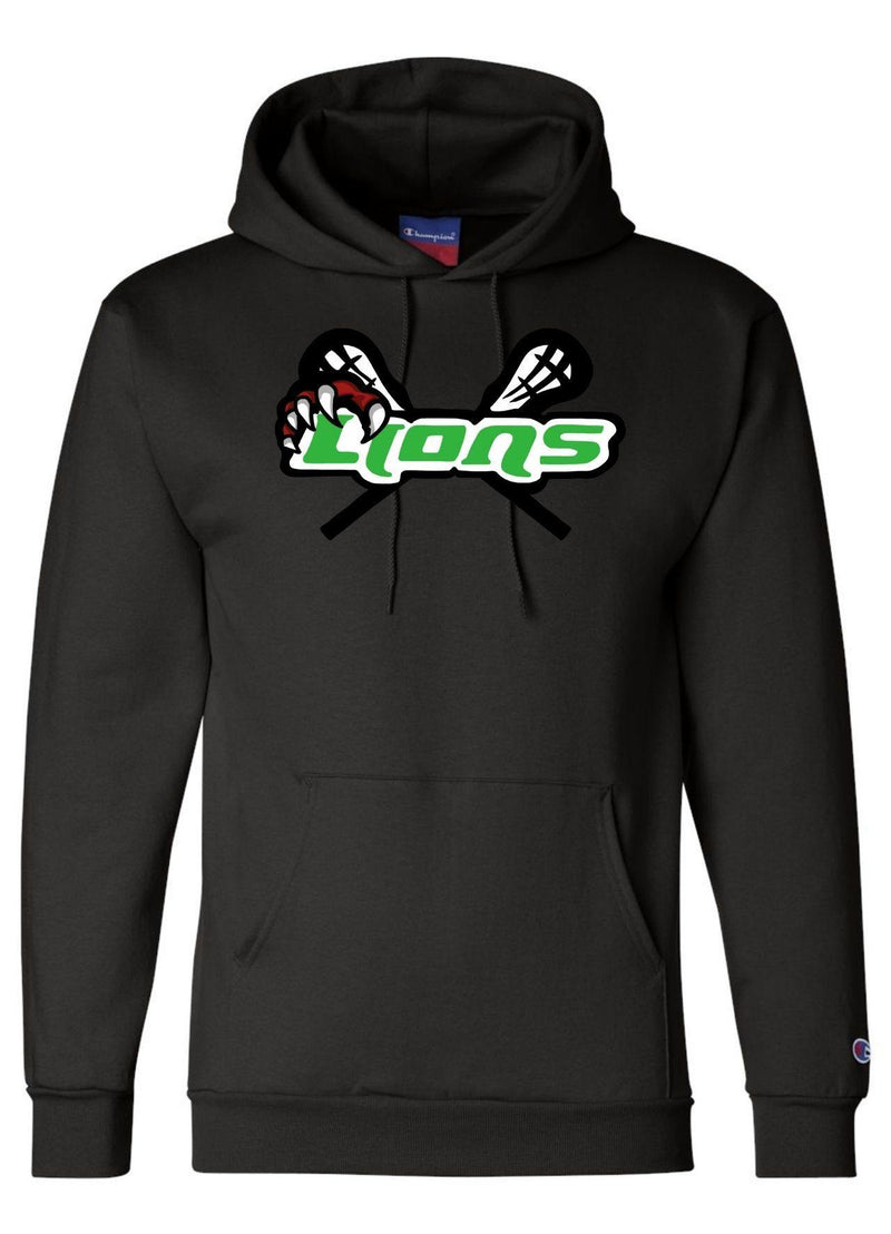 SFYTH Champion - Double Dry Eco® Hooded Sweatshirt - Black - Top String Lacrosse
