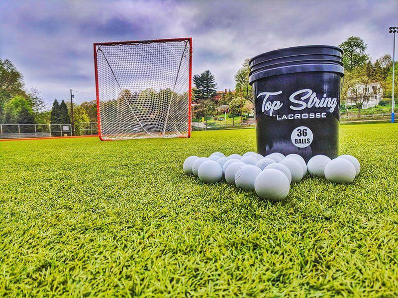 Bucket of Lacrosse Balls - 36 ct. - Top String Lacrosse