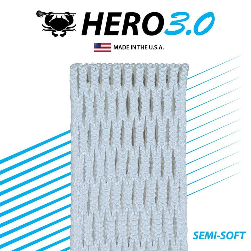 ECD Hero 3.0 Semi-Soft Lacrosse Mesh | Top String Lacrosse