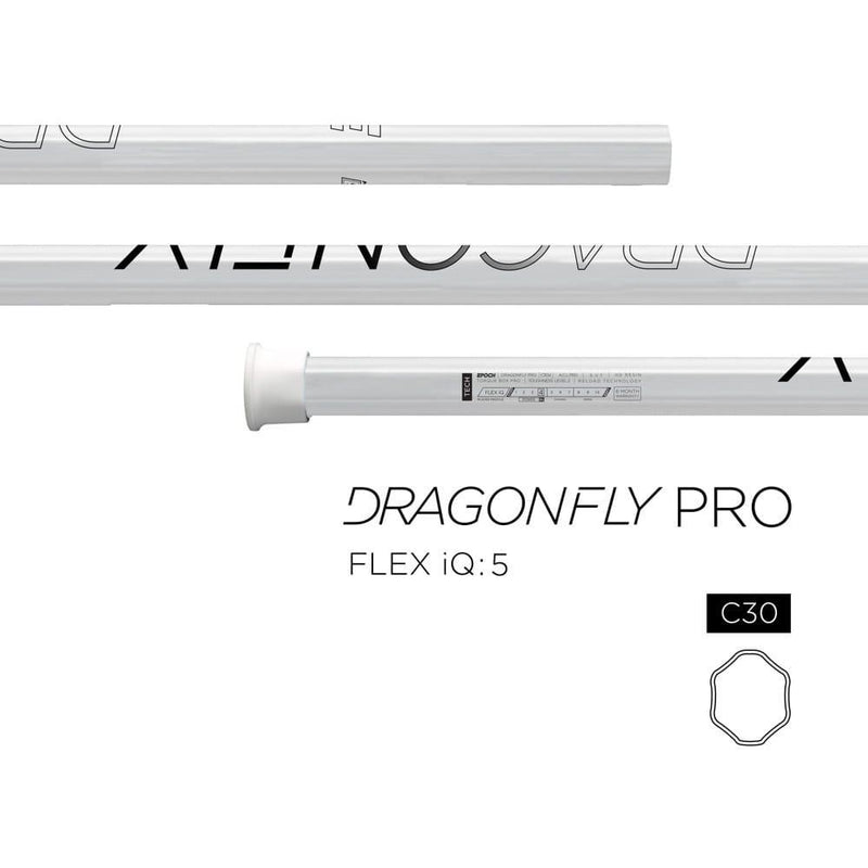 Epoch Dragonfly Pro C30 iQ5 White Composite Attack Lacrosse Shaft | Top String Lacrosse