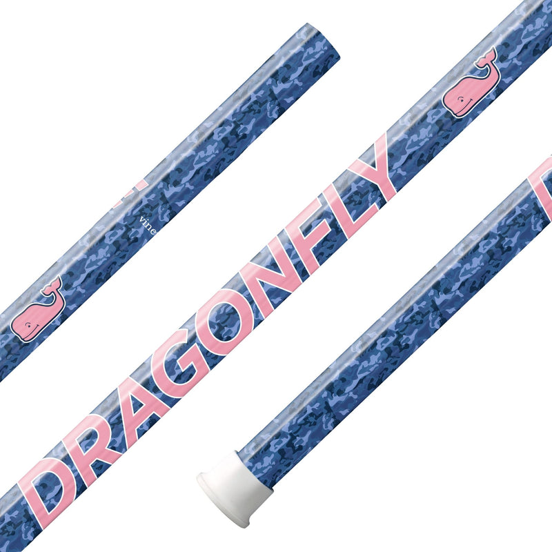 "Epoch X vineyard vines ""Blue Camo"" Dragonfly Select C30 iQ5 Composite Attack Lacrosse Shaft - Top String Lacrosse"