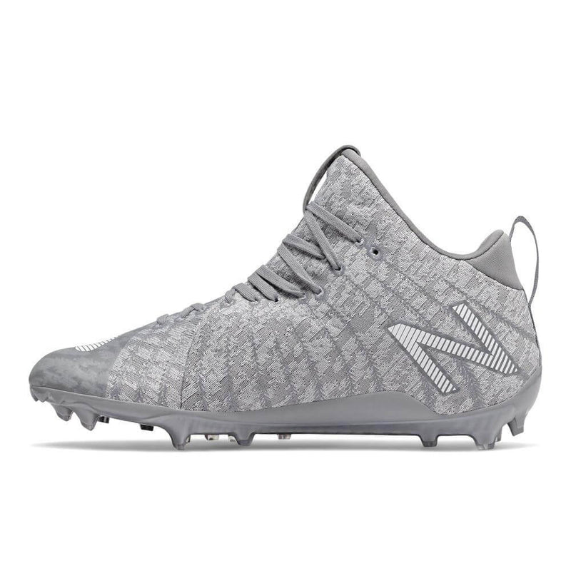 New Balance Burn X2 Mid Grey Lacrosse Cleats | Top String Lacrosse