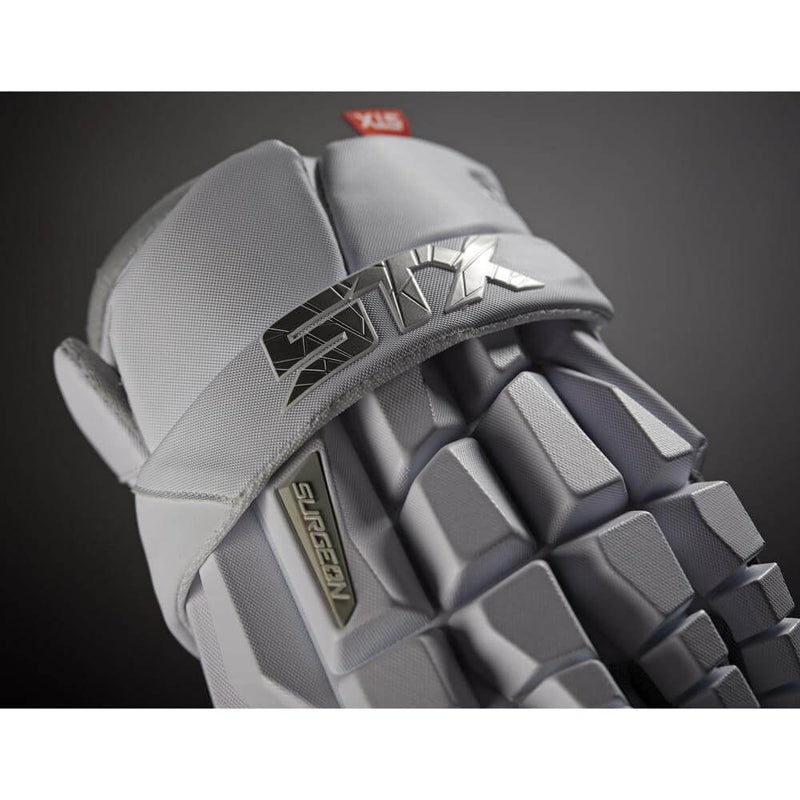 STX Surgeon RZR Lacrosse Gloves | Top String Lacrosse