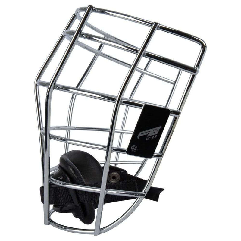 Warrior Fatboy Box Lacrosse Cage Face Mask 2.0 with Chin Strap | Top String Lacrosse