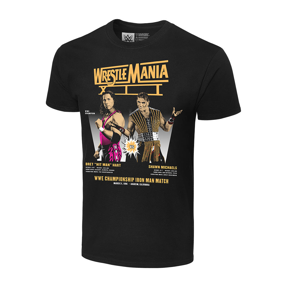 WrestleMania XII Bret Hart vs Shawn Michaels Matchup T-Shirt