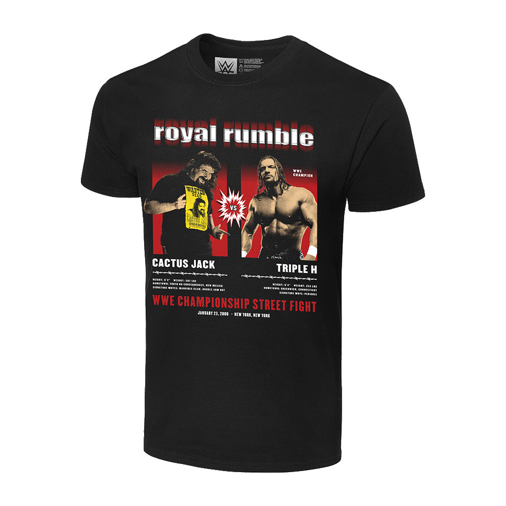 Royal Rumble 2000 Cactus Jack vs Triple H Matchup T-Shirt