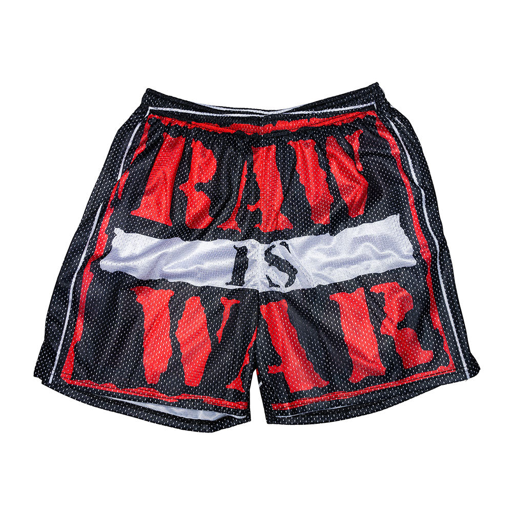 RAW IS WAR Chalk Line Shorts
