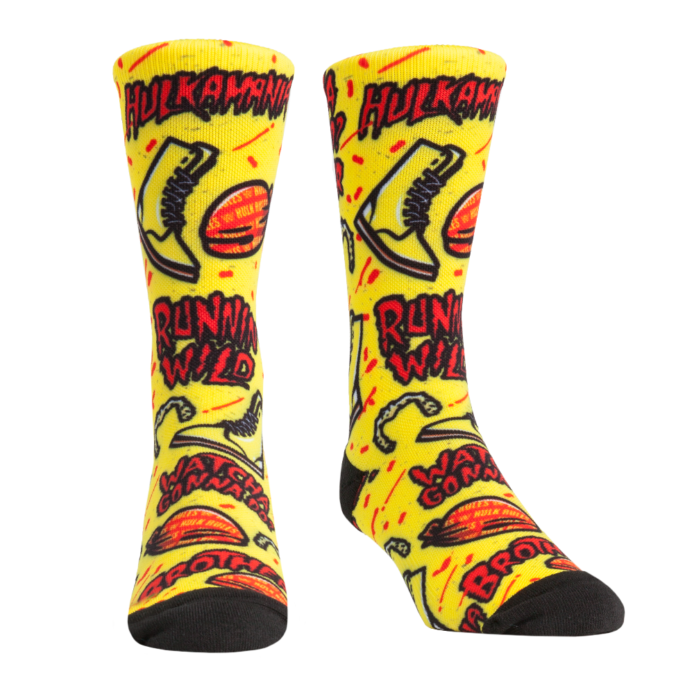 Hulk Hogan Hulkamania All Over Print Rock 'Em Socks