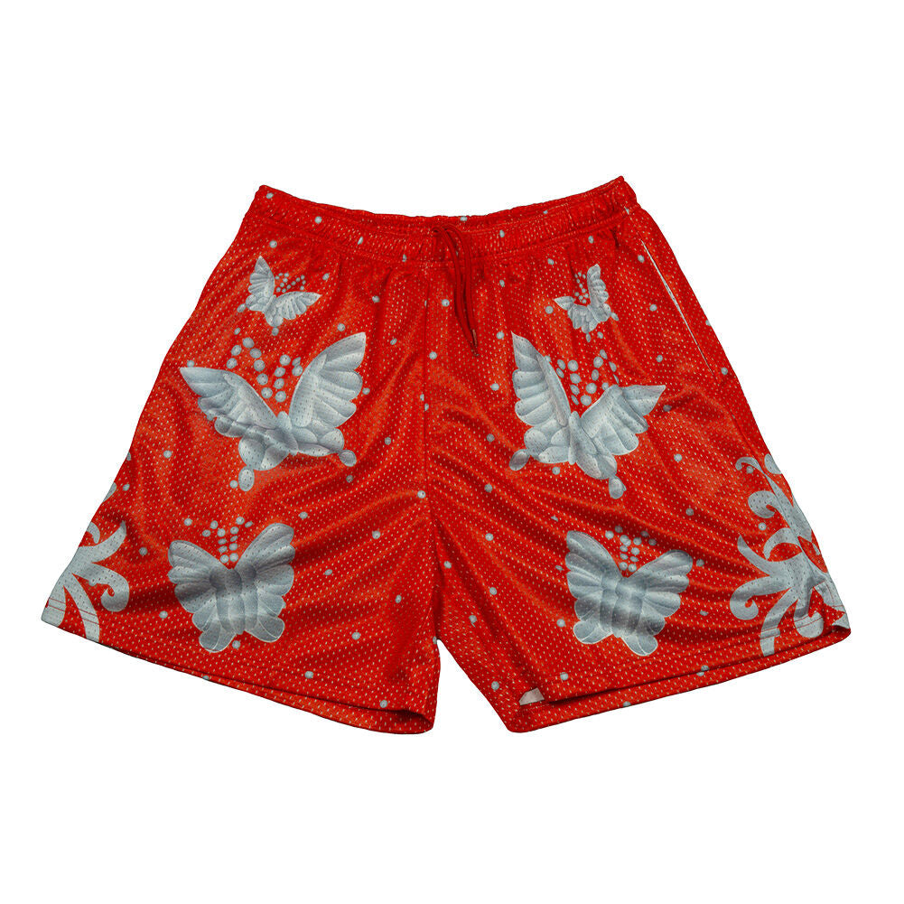 Ric Flair Red Chalk Line Shorts