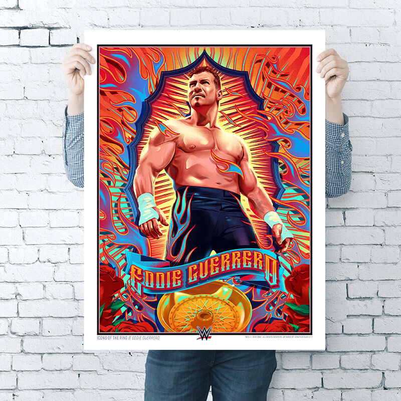 "Eddie Guerrero ""Icons Of The Ring"" 18x24 Art Print"