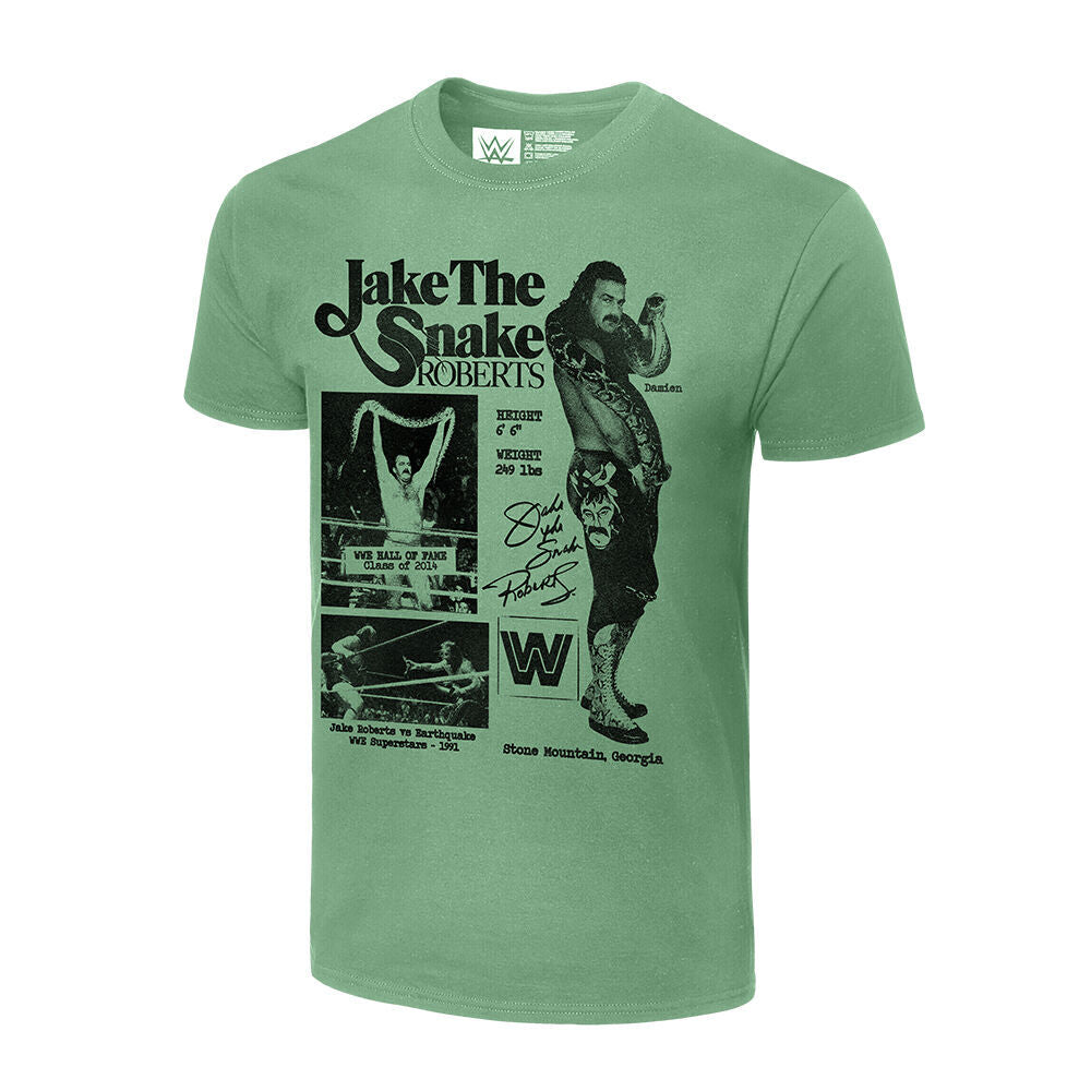 Jake The Snake Roberts Fanzine Graphic T-Shirt