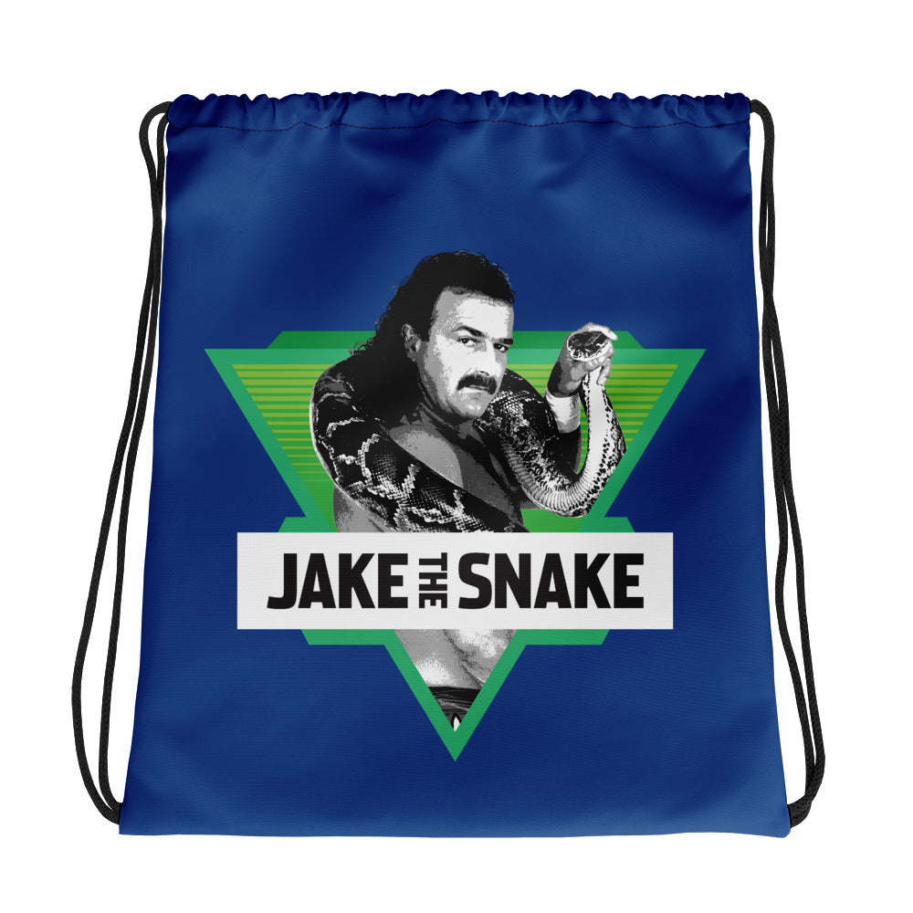 Jake The Snake Roberts Drawstring Bag