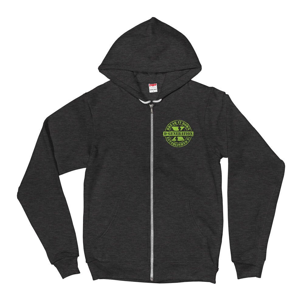 "D-Generation X ""DX Army""  Zip Up Hoodie"