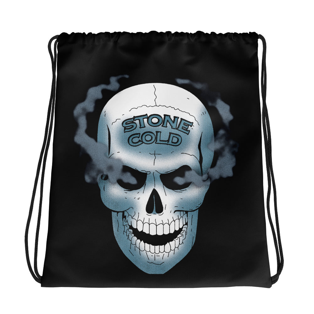 "Stone Cold Steve Austin ""Smoking Skull"" Drawstring Bag"