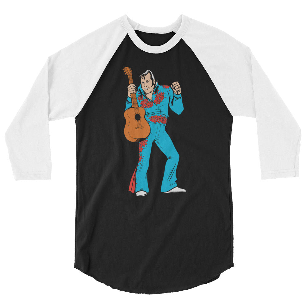 "Honky Tonk Man ""Illustrated"" 3/4 Sleeve Raglan Shirt"