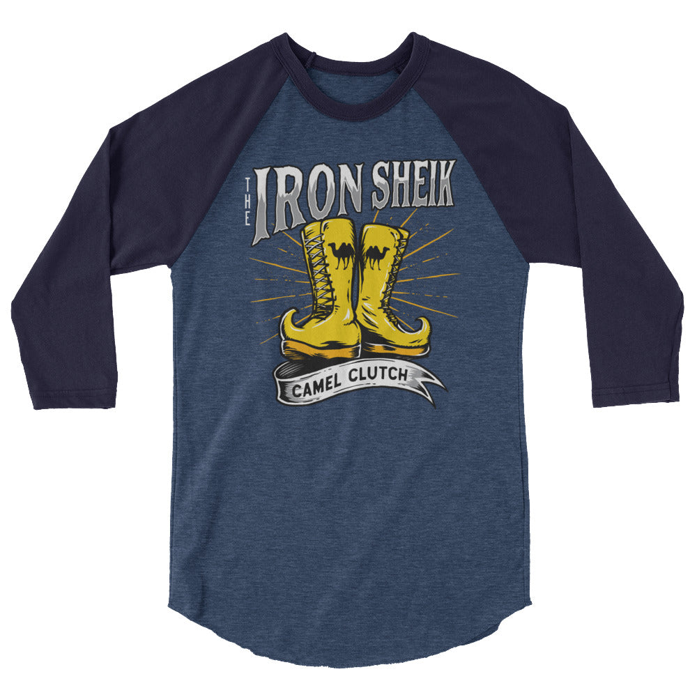 "Iron Sheik ""Camel Clutch Boot"" 3/4 Sleeve Raglan Shirt"