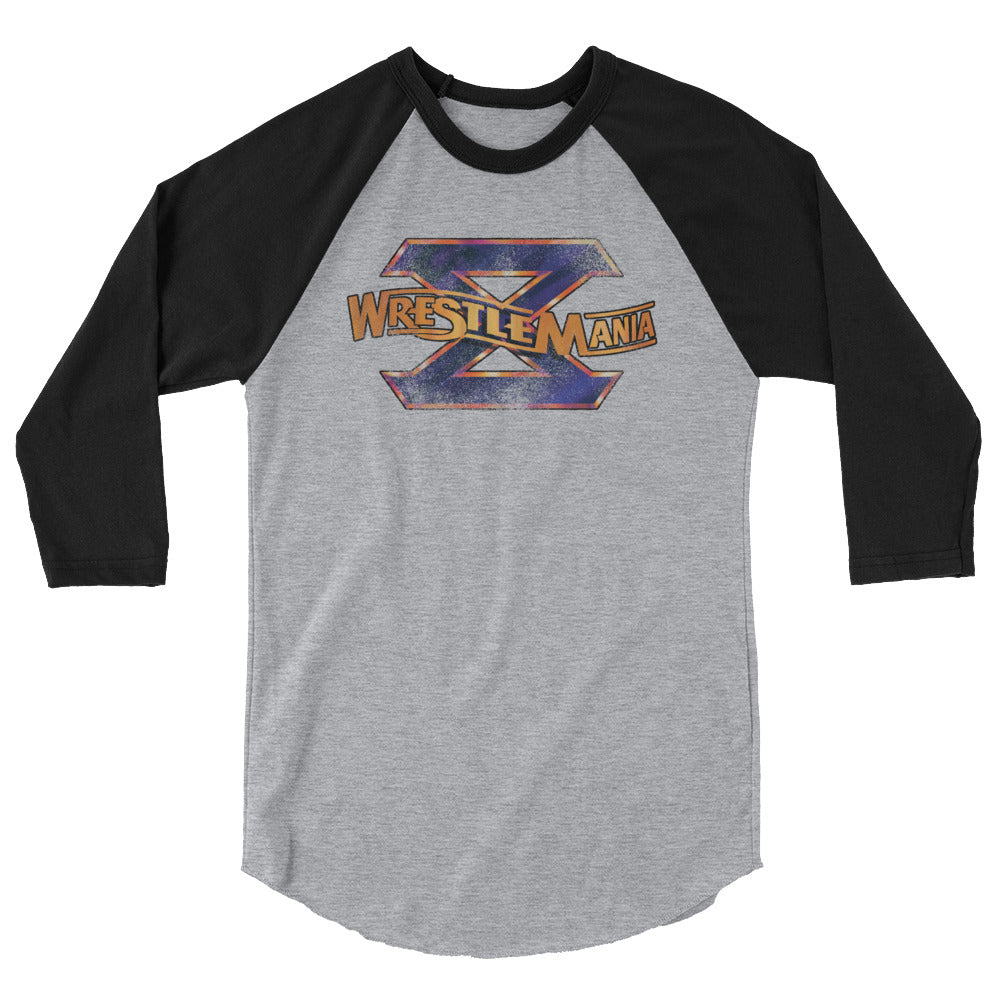 WrestleMania 10 3/4 Sleeve Raglan Shirt