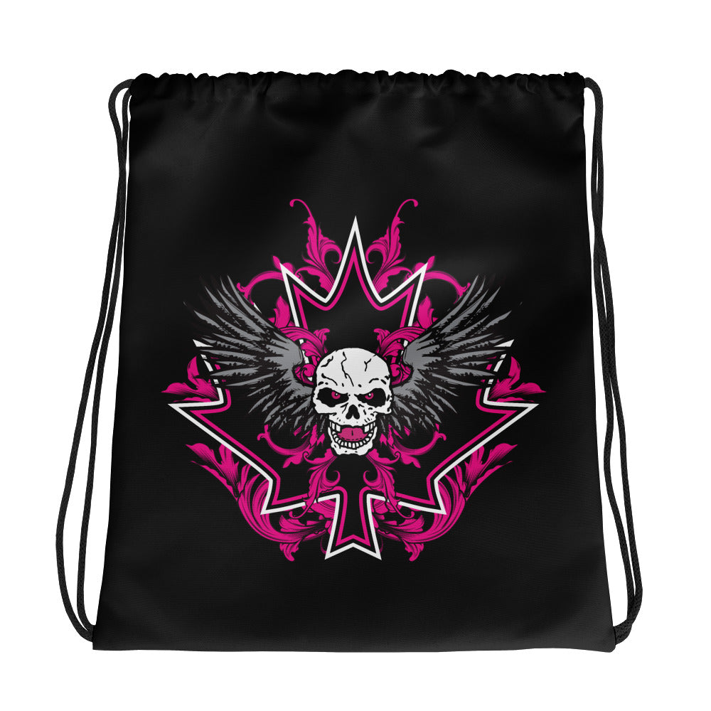 "Bret Hart ""Skull & Leaf"" Drawstring Bag"