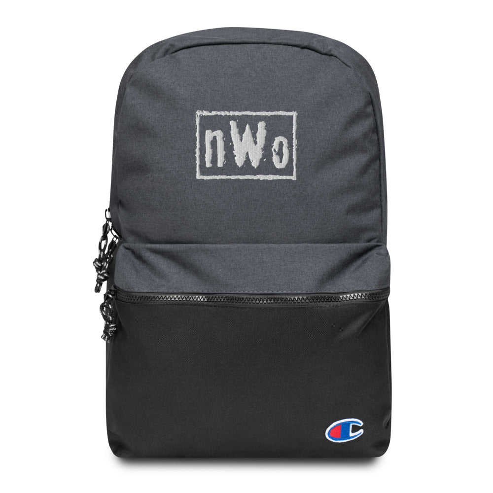 nWo Classic Logo Embroidered Champion Backpack