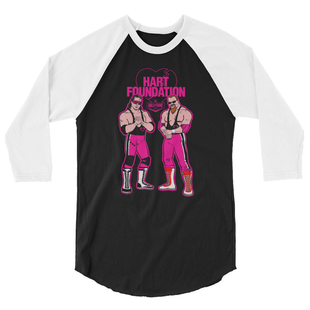 "Hart Foundation ""Illustrated"" 3/4 Sleeve Raglan Shirt"