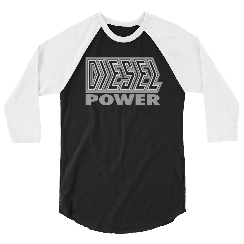 "Diesel ""Diesel Power"" 3/4 Sleeve Raglan Shirt"