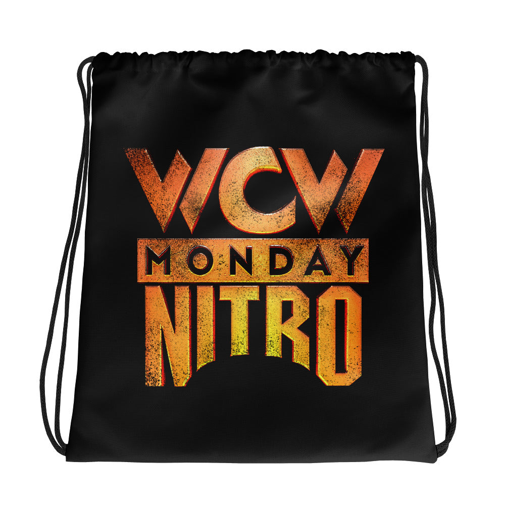 WCW Monday Nitro Drawstring Bag