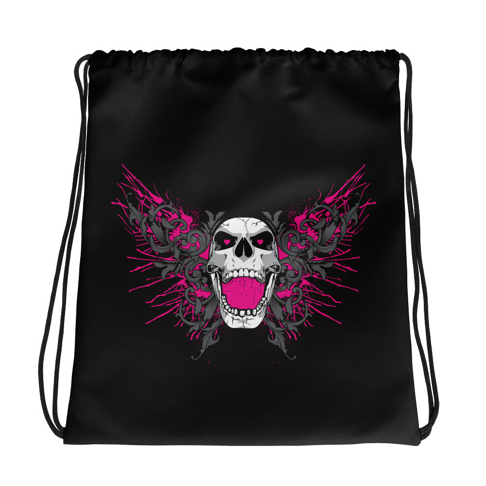 "Bret Hart ""Screaming Skull"" Drawstring Bag"