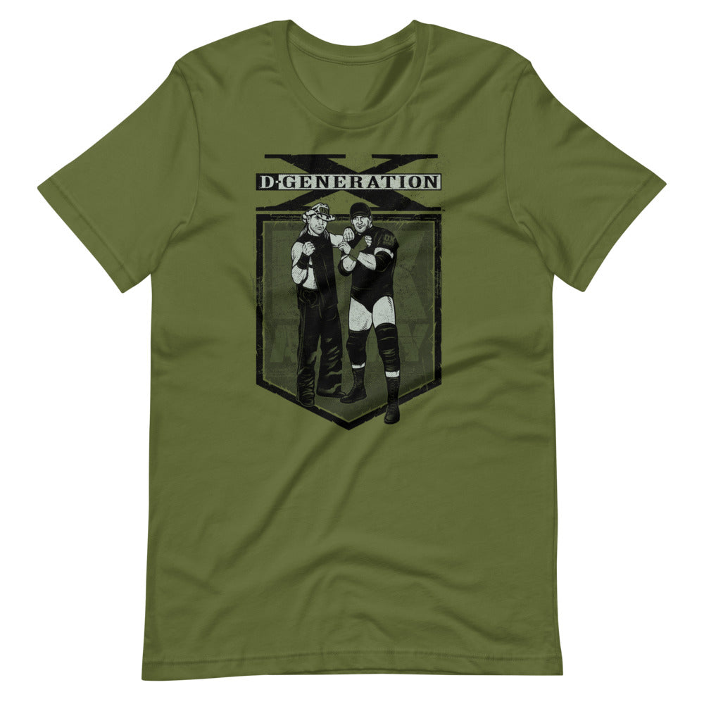 "D-Generation X ""DX Army Illustration"" T-Shirt"