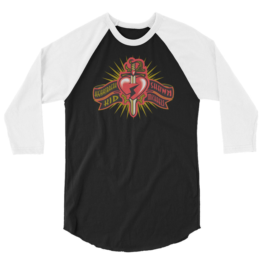 "Shawn Michaels ""Heartbreak Logo"" 3/4 Sleeve Raglan Shirt"