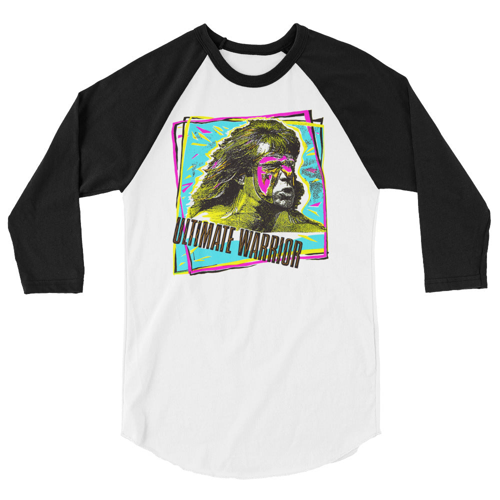 "Ultimate Warrior ""Retro Graffiti"" 3/4 Sleeve Raglan Shirt"
