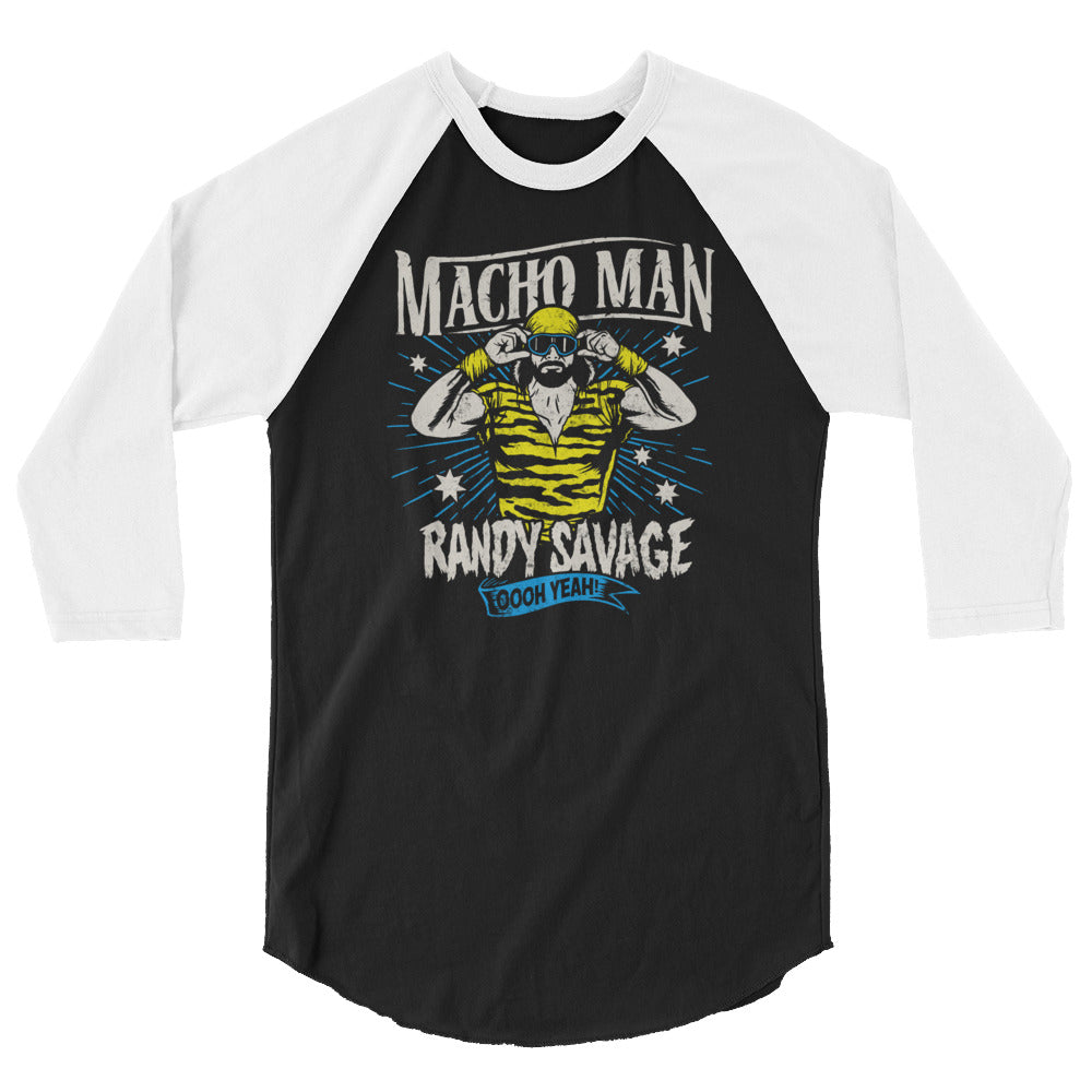 "Macho Man Randy Savage ""Oooh Yeah!"" 3/4 Sleeve Raglan Shirt"
