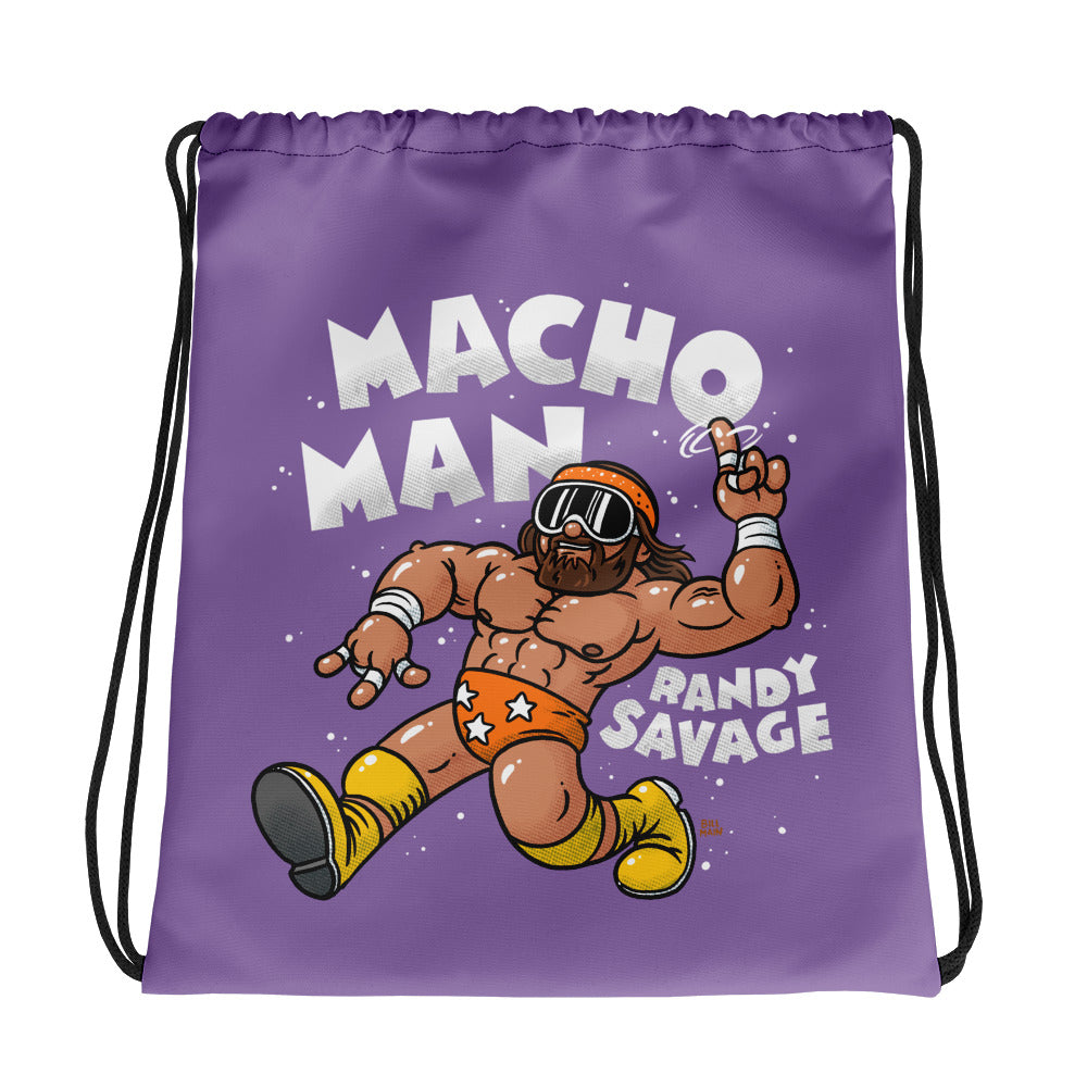 Macho Man Randy Savage x Bill Main Drawstring Bag